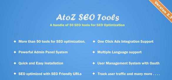 AtoZ SEO Tools v2.7 - PHP搜索引擎优化工具